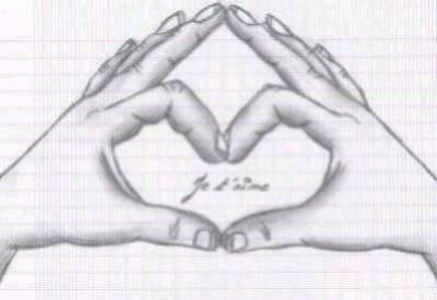 Coeur dessin 2 mains - Table a repasser avec les mains ...